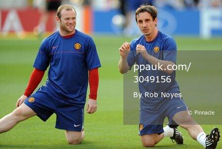Barcelona v ManU training 260509