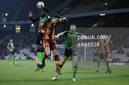 Bradford City v Plymouth Argyle, Bradford, UK - 2 Dec 2017