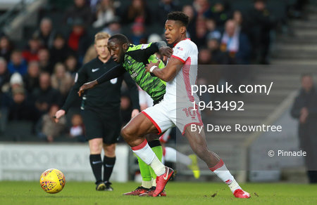 MK Dons v Plymouth Argyle, Milton Keynes, UK - 26 Dec 2017