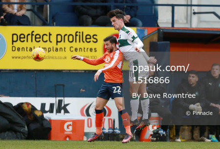Luton Town v Plymouth Argyle, Luton UK - 25 Feb 2017