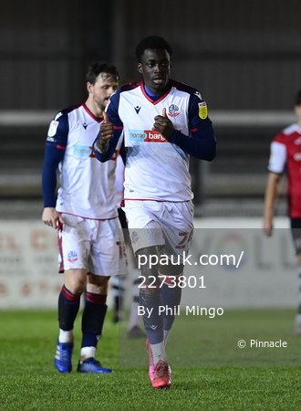 Exeter City v Bolton Wanderers, Exeter, UK - 12 Jan 2021