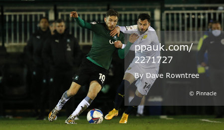 Plymouth Argyle v Oxford United, Plymouth, UK - 29 Dec 2020