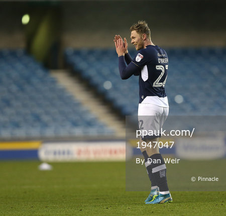 Millwall v Barnsley, London - UK - 6 Jan 2018