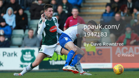 Plymouth Argyle v Bury, Plymouth, UK - 6 Jan 2018