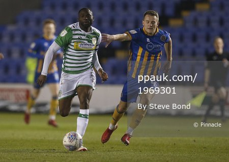 Shrewsbury  v Yeovil Town, Shrewsbury, UK - 6 Mar 2018