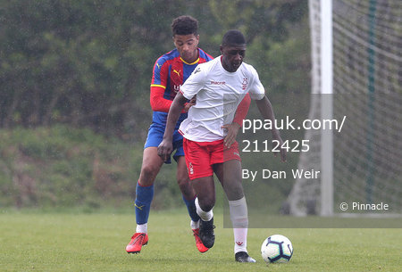 Crystal Palace U18s v Nottingham Forest U18s, Beckenham - 13 April 2019