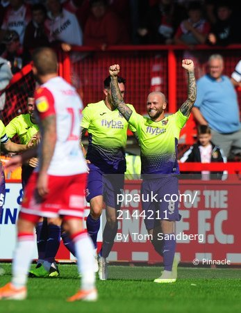 Stevenage v Exeter City, Stevenage, UK - 10 Aug 2019