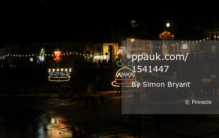 Mousehole Harbour Christmas Lights 231211