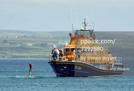 Cornish Pirates Training with RNLI 270712