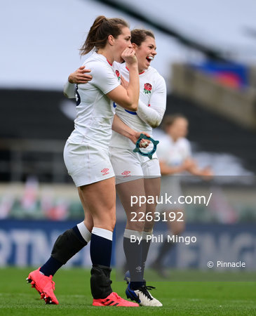 England Women v France Women, Twickenham, UK - 21 Nov 2020