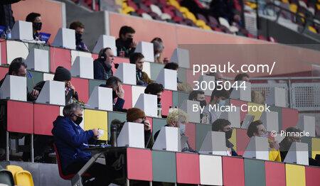 London Irish v Bristol Bears, London, UK - 20 Feb 2021