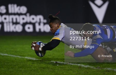 Bath Rugby v Wasps, Bath, UK - 8 Jan 2021