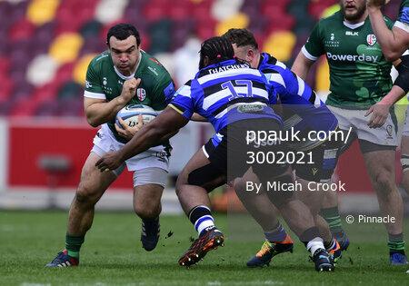 London Irish v Bath Rugby, London, UK - 27 March 2021