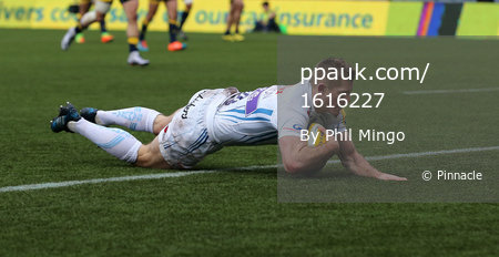 Worcester Warriors and Exeter Chiefs, Worcester, UK - Feb 18 201