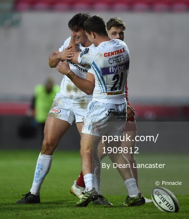 Scarlets v Exeter Chiefs, Swansea - UK 12 Nov 2017
