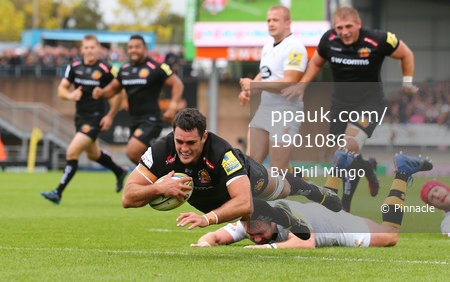 Exeter Chiefs v Wasps, Exeter, UK - 24 Sept 2017