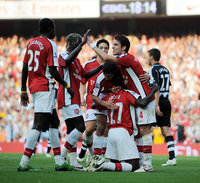 Arsenal v Newcastle  300808