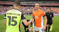 Blackpool v Exeter City, London, UK - 28 May 2017