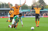 Barnet v Yeovil Town, Barnet, UK - 21 Oct 2017