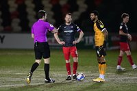 Newport County v Exeter City, Newport, UK - 16 Feb 2021