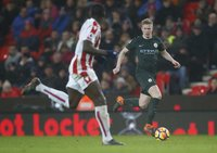 Stoke City  v Manchester City, Stoke, UK - 12 Mar 2018