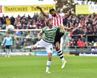 Yeovil Town v Exeter City, Yeovil, UK - 6 Oct 2018