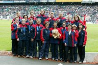 ENGLAND WOMENS RUGBY PLAYERS, Twickenham, UK 26 May 2002