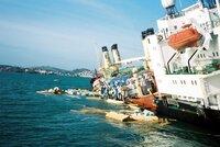 Sinking ship, Torbay, UK 27 Oct 2002