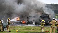 Bin Lorry fire, Weston Super Mare, UK - 8 Sept 2020