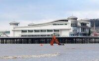 Digger Recovery on Weston Super Mare Beach, Weston Super Mare, U