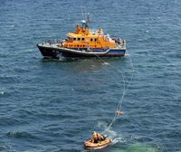 Cornish Pirates Training with RNLI 270712