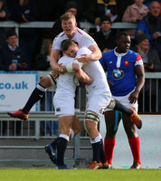 England Under 20s v France Under 20s, Exeter, UK - 9 Feb 2019