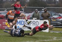 Coventry Rugby  v Cornish Pirates, Leeds, UK - 19 Jan 2019