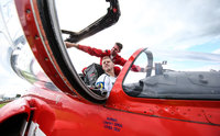 Gareth Steenson with Red Arrows, Exeter, UK - 9 August 2017