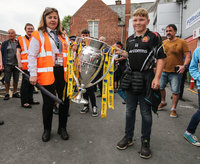 Exeter Chiefs Open Top Bus Parade, Exeter, UK - 29 May 2017