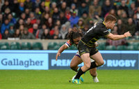 Northampton Saints v Leicester Tigers, Twickenham, UK - 06 Oct 2